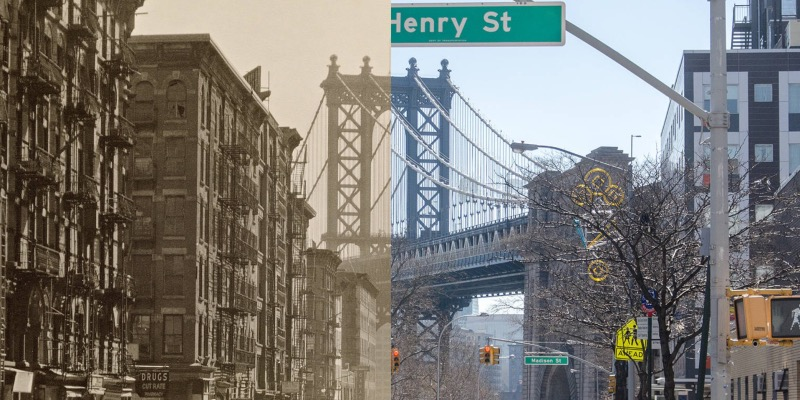 Classic New York Streetscapes, Then and Now